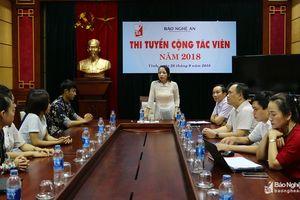 4 ứng viên được chọn trong kỳ thi tuyển Cộng tác viên Báo Nghệ An
