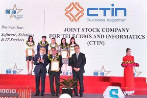 Năm thứ 5 liên tiếp CTIN vinh danh trong Top 50 Doanh nghiệp CNTT hàng đầu Việt Nam