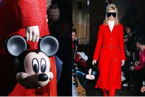 Hết mang rồng, đầu nhân tạo lên sàn diễn, nhà mốt Ý nổi tiếng đổi gu mang chuột Mickey sải bước catwalk