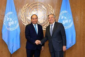 Thủ tướng gặp Tổng Thư ký và Chủ tịch Đại hội đồng Liên Hợp Quốc