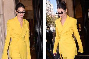 Siêu mẫu Kendall Jenner thanh lịch xuống phố với set đồ vàng rực rỡ