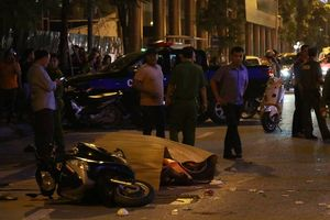 Toàn cảnh sập giàn giáo ở phố Lê Văn Lương, Hà Nội 1 người chết tại chỗ