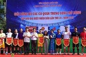 Đội bóng đá PVN tham gia Cup Báo Đại biểu Nhân dân năm 2018