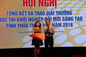 Thừa Thiên Huế: Trao giải thưởng cuộc thi Khởi nghiệp đổi mới sáng tạo năm 2018