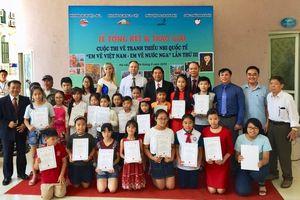 Trao giải Cuộc thi vẽ tranh quốc tế 'Em vẽ Việt Nam - Em vẽ nước Nga' lần thứ 3