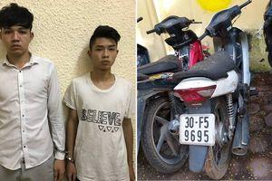 Nam thanh niên cướp xe máy grab, điện thoại trong đêm ở Hà Nội