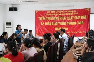 Nam Định: Tuyên truyền pháp luật đảm bảo trật tự an toàn giao thông cho công nhân