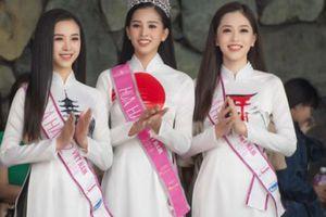 HH Trần Tiểu Vy đọ sắc 2 Á hậu Phương Nga, Thúy An trong tà áo dài