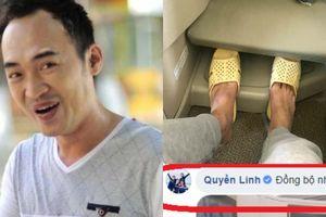 Nghệ sĩ Tiến Luật khoe đi dép tổ ong được MC Quyền Linh hưởng ứng