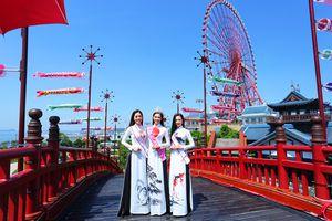 Top 3 Hoa hậu Việt Nam 2018 dự Lễ hội Mặt trời mọc tại Hạ Long