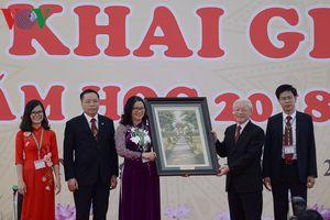 Tổng Bí thư dự Lễ khai giảng của Học viện Nông nghiệp Việt Nam