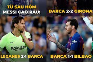 Biếm họa 24h: MU tụt dốc 'thảm hại', Messi không râu và Barca đen đủi