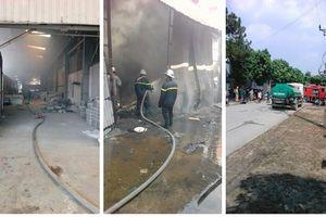 Thông tin về vụ hỏa hoạn tại Cụm công nghiệp Ngọc Sơn (Chương Mỹ)