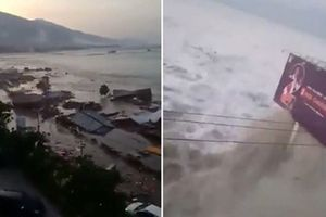 Động đất - sóng thần Indonesia: Giây phút nhà cửa bị cột sóng cao 6m cuốn phăng trong tích tắc