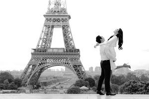 Lan Khuê chào tháng 10 với loạt ảnh cưới lãng mạn ở Paris