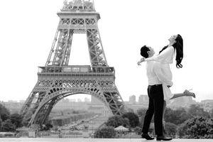 Hé lộ ảnh cưới lãng mạn của Lan Khuê và ông xã dưới chân tháp Eiffel