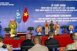 63 thành viên xuất quân tham gia gìn giữ hòa bình Liên Hợp quốc