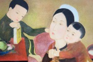 Bức tranh 'La Famille' của Lê Phổ bán với giá gần 750.000 USD