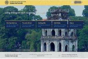 Cổng dịch vụ công trực tuyến TP Hà Nội đi vào hoạt động