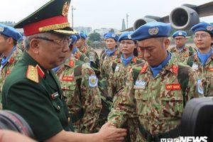 63 chiến sĩ lên đường tham gia gìn giữ hòa bình Liên hợp quốc ở Nam Sudan