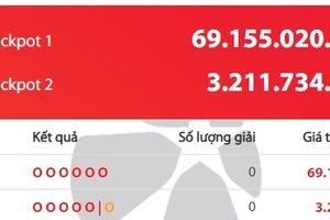 Xổ số Vietlott: Con số nào sẽ mang lại giải thưởng hơn 69 tỷ đồng?