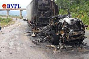 Đà Nẵng: Xe đầu kéo bốc cháy, đường tránh Nam Hải Vân bị tắc nghẽn nhiều giờ