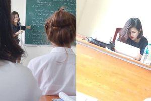 Bị sinh viên chụp lén, cô giáo dạy Triết xinh như hoa gây bão Facebook