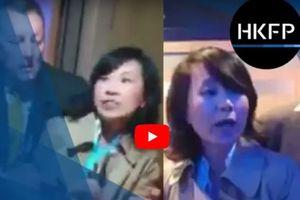 Nữ phóng viên Trung Quốc quát mắng MC, tát tình nguyện viên trên đất Anh