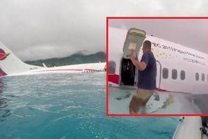 Bên trong máy bay rơi xuống hồ ở Micronesia