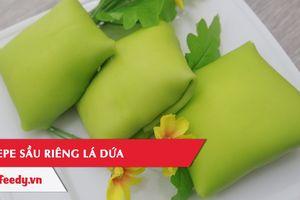 Clip: Cách làm bánh Crepe sầu riêng lá dứa ăn là 'ghiền'