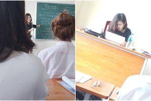 Xuất hiện cô giáo có góc nghiêng xinh 'thần thánh' khiến dân mạng 'đau tim'