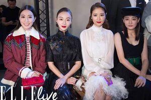 Lâm Tâm Như, Xa Thi Mạn và Ngô Cẩn Ngôn tại 'Paris Fashion Week' ngày 7