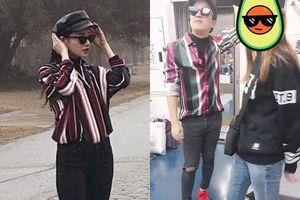 Nhã Phương, Trường Giang mặc đồ đôi khi trăng mật ở Hàn Quốc