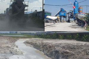 Phường Đồng Mai làm ngơ cho trạm trộn bê tông hoạt động gây ô nhiễm môi trường?