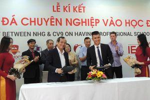 Cty của cầu thủ Lê Công Vinh hợp tác đưa bóng đá chuyên nghiệp vào học đường