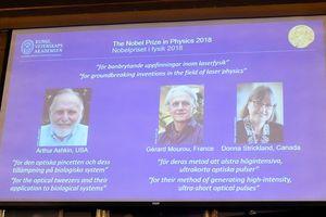Ba người Mỹ, Pháp, Canada đoạt giải Nobel Vật lý 2018 nhờ công trình vật lý laser