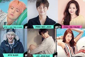 BXH sao được fan quốc tế yêu mến tháng 9: V (BTS) thế chỗ Suga, Park Min Young - Park Seo Joon bị Park Shin Hye - Lee Jong Suk vượt mặt