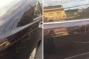 Vụ chủ xe Camry bị cào xước trong đêm: Chủ xe viết đơn đề nghị khởi tố vụ án