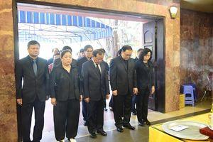 Lãnh đạo Trung ương, thành phố viếng nguyên Bí thư Tỉnh ủy Hà Tây Nguyễn Đình Sở