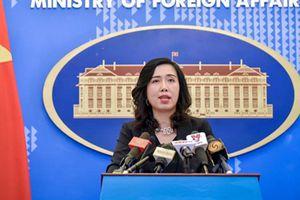 Việt Nam theo dõi sát sao tình hình mới Biển Đông