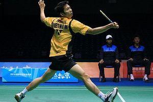 Vợ chồng Tiến Minh cùng thua tại giải cầu lông Đài Loan