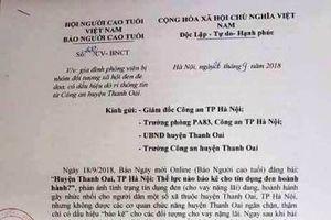 Người nhà PV báo Người Cao tuổi bị đe dọa sau khi viết bài phản ánh vay nặng lãi