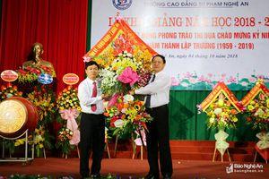 Trường CĐ Sư phạm Nghệ An khai giảng năm học mới