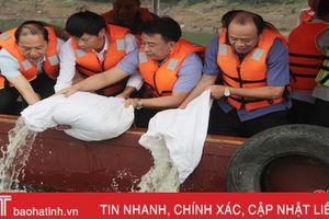 Phóng sinh hơn 1 tấn cá xuống hồ Ngàn Trươi - Hà Tĩnh