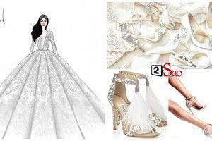 Không chỉ đầu tư váy cưới, Lan Khuê còn chi gần 100 triệu cho 3 đôi giầy cưới đẹp như cổ tích