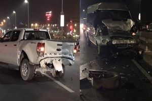 Tránh xe buýt, sửa xe trên cầu, 2 người bị tông tử vong