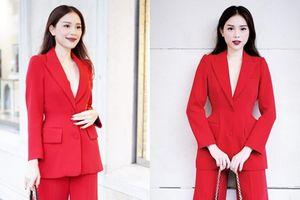 Thu vừa sang, suit 'càn quét' trang phục xuống phố của quý cô Việt