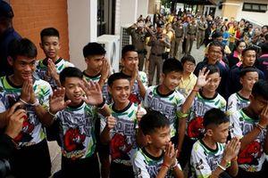 Đội bóng nhí từng mắc kẹt dưới hang sâu ở Thái Lan tham dự Olympic trẻ tại Argentina