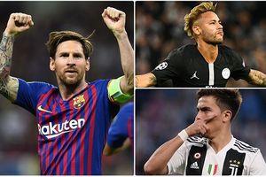 Đội hình tiêu biểu vòng 2 Champions League: Neymar sát cánh Messi