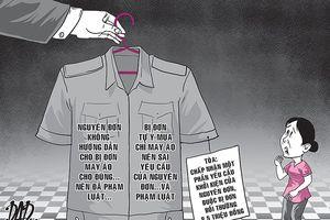 Bị kiện vì gia công áo dân phòng sai thỏa thuận